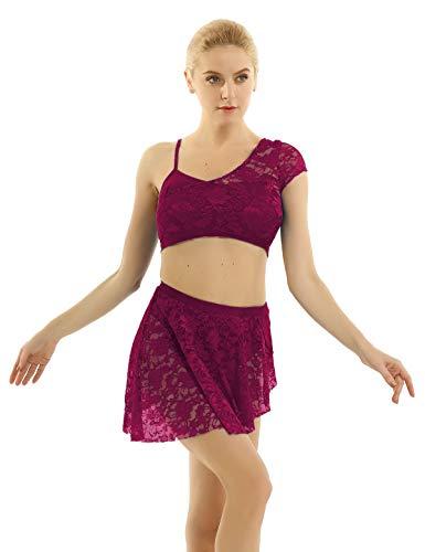 Yagp Contemporary Costumes - iiniim 2 Pieces Women Adult Lace