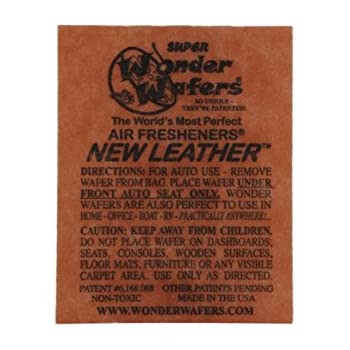 Wonder Wafers Air Fresheners 50ct. Individually Wrapped, New Leather Fragrance