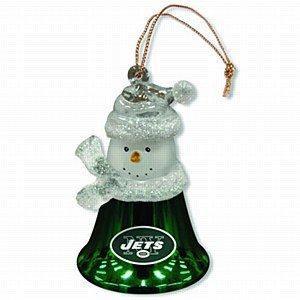 New York Jets Snowman Bell Ornament