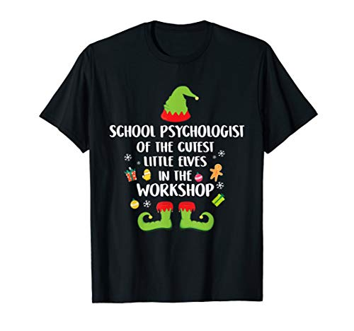 School Psychologist Of The Cutest Elves Christmas Costume T-Shirt