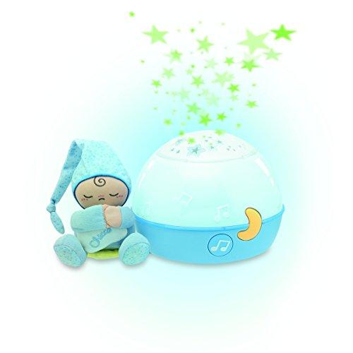 Chicco – Nachtlampje Goodnight Stars – Veelkleurig Sfeerlicht – Sterrenhemel Projector – Ontspannende Muziek – Blauw