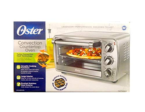 (Oster 6-Slice Convection Countertop Oven TSSTTVCG04, Brushed Stainless Steel)