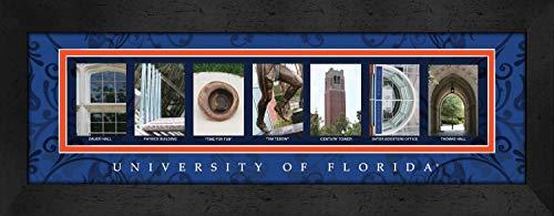 (Prints Charming Letter Art Framed Print, U of Florida-Florida, Bold Color)