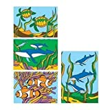 """S&S CF-1440A Sand Art Boards 5x7"""" - Sea Life (Pack of 12)"""