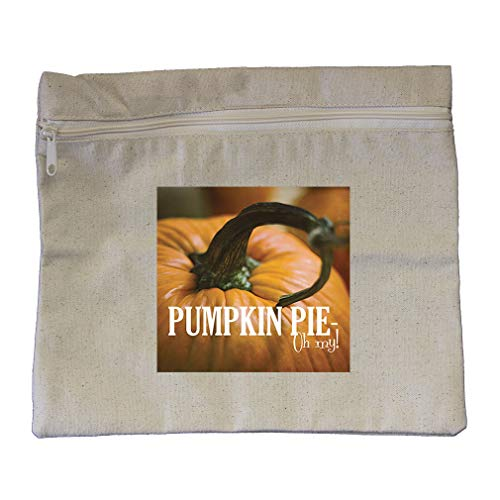 "Price comparison product image Pumpkin is mine Cotton Canvas Zippered Pouch Makeup Bag 12""x10"""
