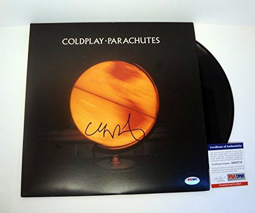 Chris Martin Coldplay Signed Autograph Parachutes Vinyl Record Album PSA/DNA COA