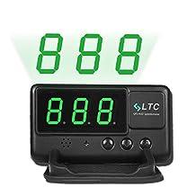 LTC Original Digital Universal Car HUD GPS Speedometer Overspeed Alarm Windshield Project for All Vehicle