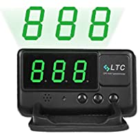 LeaningTech Original Digital Universal Car HUD GPS Speedometer Overspeed Alarm Windshield Project for All Vehicle