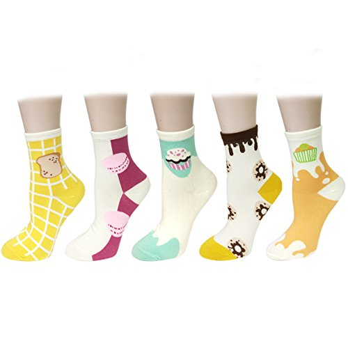 Wrapables Designs Crew Socks Women