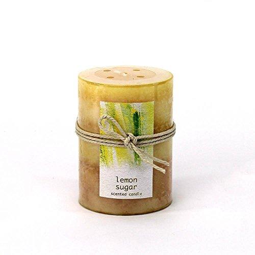 Sunshine Megastore Lemon Sugar Pillar Candle 3X4