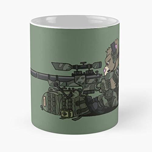 Desert Airsoft Army Scope Sniper Rifle Teddy Tactical Teddy Military Meistverkaufte Standardkaffee 11 Unzen Geschenk Tassen f/ür alle