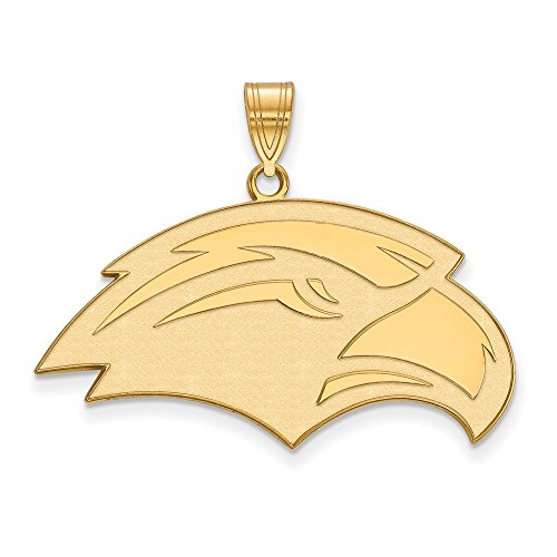 14k Yellow Gold LogoArt Official Licensed Collegiate University of Southern Mississippi (USM) Large Pendant by Logo Art