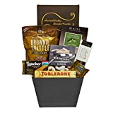 Delicious Holiday Gift Basket of Gourmet Chocolates and Sweet Goodies