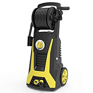 Realm Pressure Washer 2000 PSI, 1.6GPM Power Washer Machine with an Adjustable Nozzle, Spray Gun, Hose Reel, Built-in…