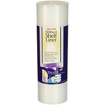 Plast-O-Mat Ribbed Shelf Liner, Clear, 12