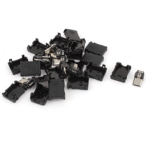 uxcell 10PCS 5 Pin Connector Plastic