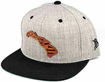 fecb0a0524b60 Branded Bills  Hawaii Patriot  Leather Patch Snapback Hat - OSFA Heather  Grey