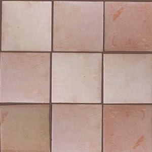 4 pcs square 12 clay saltillo tile