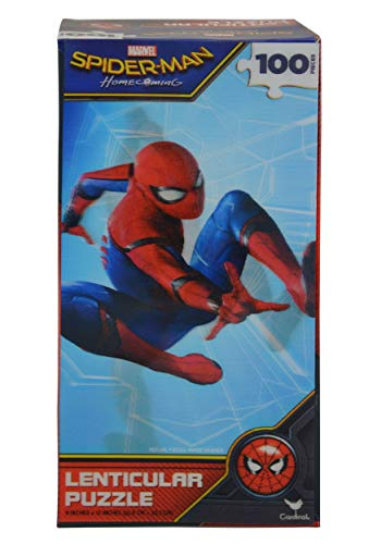 United Pacific Designs Spider-Man Lenticular 100-Piece Jigsaw Puzzle Standard
