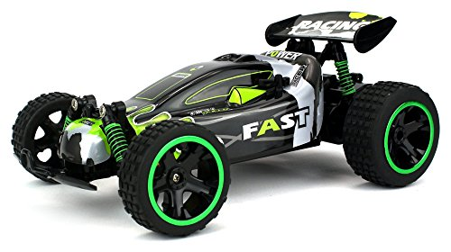 Buggy Rc - Power Baja Remote Control RC Buggy 2.4 GHz PRO System 1:18 Scale Size RTR w/ Working Suspension, Spring Shock Absorbers (Colors May Vary)