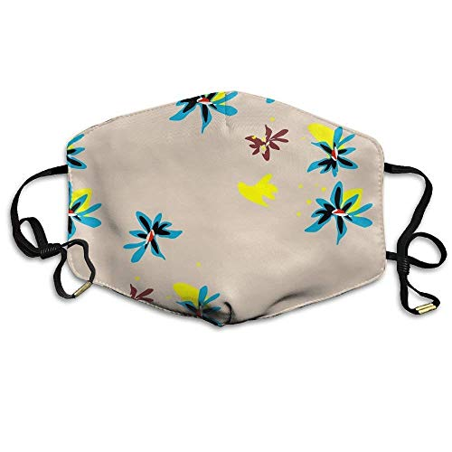 shengshilande Flowers Flora Pattern Face Mask Reuseable Polyester Face Mouth Mask for Cycling -