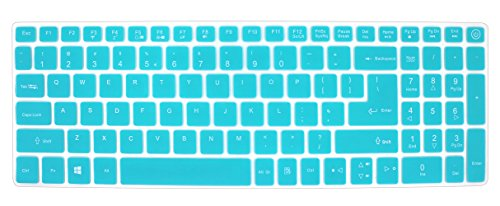 Silicone Keyboard Cover Skin for Acer Aspire V3-574 V3-575 V5-591G E5-573 E5-573G/573T E5-574G E5-575 E5-772 E5-532 ES15 ES1-572 V15 Nitro VN7-592G V17 VN7-792G F15 F5-571 F5-573G /573T (Mint Green) (Keyboard Skin Acer Aspire)