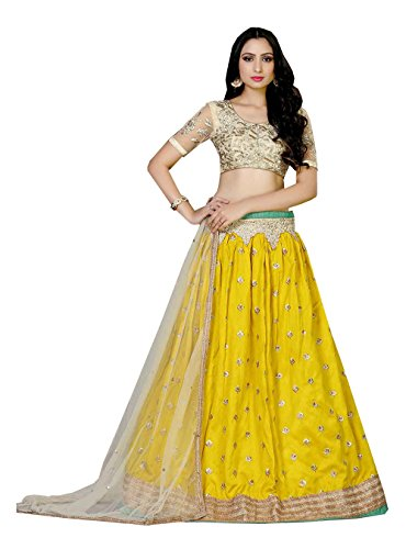 Da Facioun Indian Women Designer Wedding Yellow Lehenga Choli R-16702