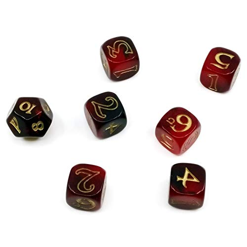 Cubicle 7 1021CB7 One Ring Dice Set Red and Black - Lord Of The Rings Dice
