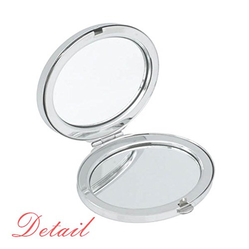 Childlike Children Cute Hand-drawn Illustration Bookshelf College Oval Compact Makeup Pocket Mirror Portable Cute Small Hand Mirrors Gift by DIYthinker (Image #1)