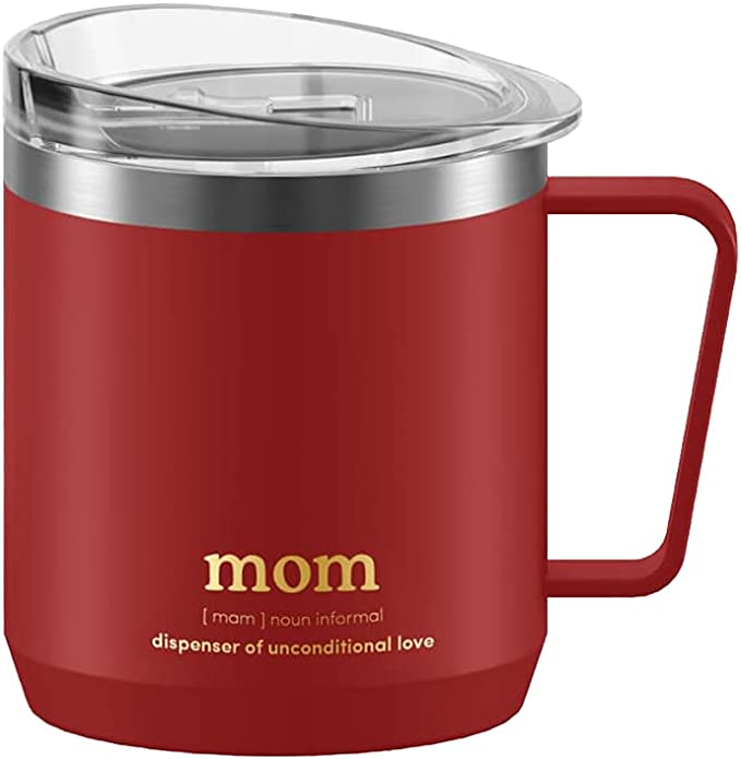 VAHDAM, Perfect Gift for MOM - Dispenser Of Unconditional Love | Stainless Steel Tea/Coffee Mug Tumbler with Handle (300ml/ 10.1oz) - Vacuum Insulated Travel Tumbler Cup | Mother's Day Gifts for Mom