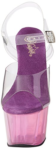PleaserAdore-708mct - plataforma mujer Transparent (Clr/Purple Tinted)