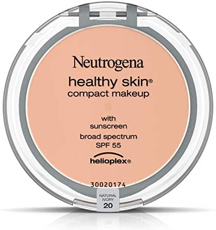 Neutrogena Healthy Skin Compact Makeup Foundation, Broad Spectrum Spf 55, Natural Ivory 20,.35 Oz.
