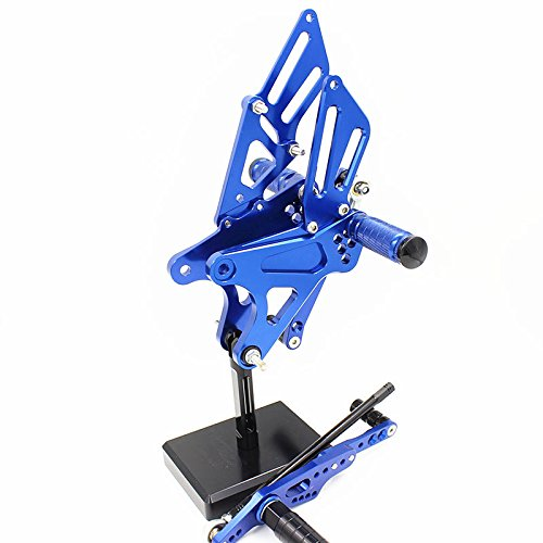 (FXCNC Racing 09-14 R1 Motorcycle Rearset Foot Pegs Rear Set Footrests Fully Adjustable Foot Boards Fit For Yamaha YZF R1 2009 2010 2011 2012 2013 2014 Aluminum)