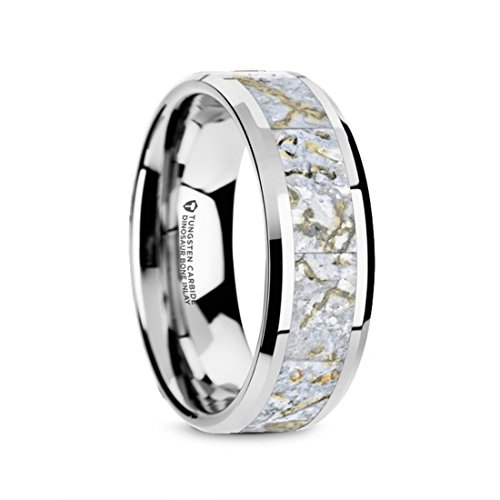 Thorsten Black Panther Custom Design Flat Polished Tungsten Carbide Ring 8mm Wide Wedding Band from Roy Rose Jewelry