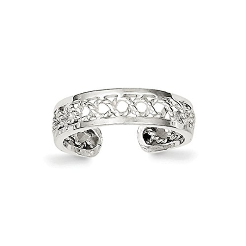 ICE CARATS 925 Sterling Silver Solid Adjustable Cute Toe Ring Set Fine Jewelry Gift Set For Women Heart - Heart Solid Toe Ring