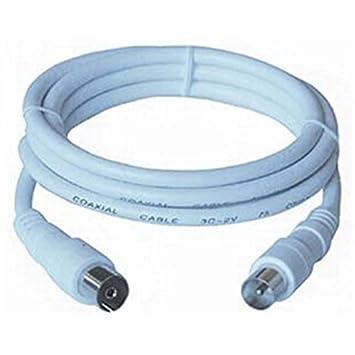 PremiumCord TV M/F, 75 Ohm, 3m 3m IEC IEC Blanco - Cable