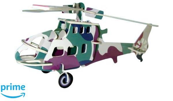 Amazon com: Fighter Plane 3d Color Wooden Puzzle: Toys & Games