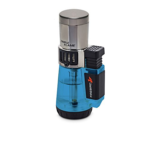 Firebird by Colibri Afterburner Triple Torch Cigar and Cigarette Lighter Warranty Blue ()