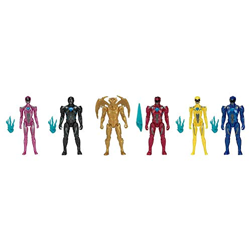 (Bandai Collectible Power Rangers Team 6-Piece Set With Exclusive Metallic Goldar)