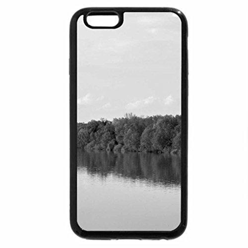 iPhone 6S Plus Case, iPhone 6 Plus Case (Black & White) - Tisa River sunset