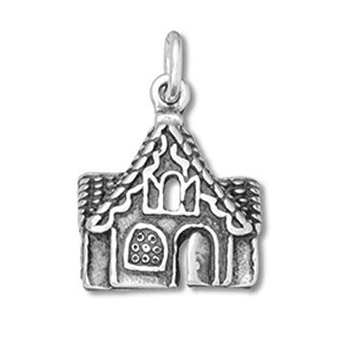 Sterling Silver Gingerbread House Charm Item #12116 ()