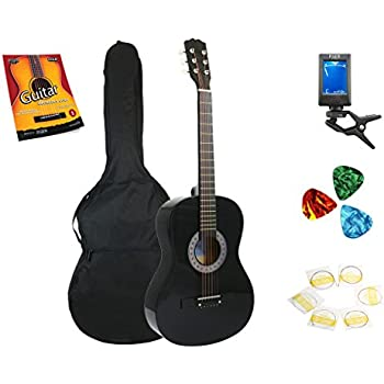 star acoustic guitar 38 inch with bag tuner strings picks and beginner 39 s guide. Black Bedroom Furniture Sets. Home Design Ideas
