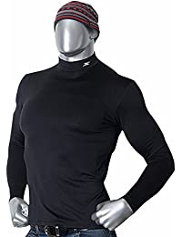 Mock Turtleneck Men Thermal Compression Long Shirts Base Layer Napping NMM