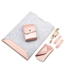 Super Modern Imitation Leather&Felt Laptop Sleeves Tablet Case Mouse Pad Briefcase/Computer Bag/Laptop Case/Carry Case for 11-15 Inch Laptop/Notebook/MacBook Air Pro/laptop/Ultrabook