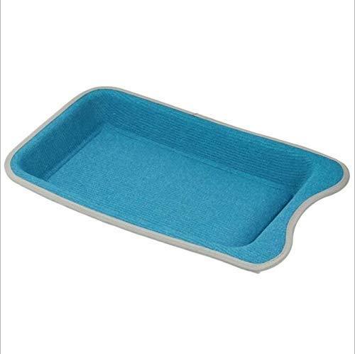 bluee Pet Supplies Cans Cat Litter Rectangular Cat Scratch Board Pet Lounge Cat Bed Comfortable Home Decoration Pet Activity 25  45  5.5 cm, Two colors Optional (color   bluee)