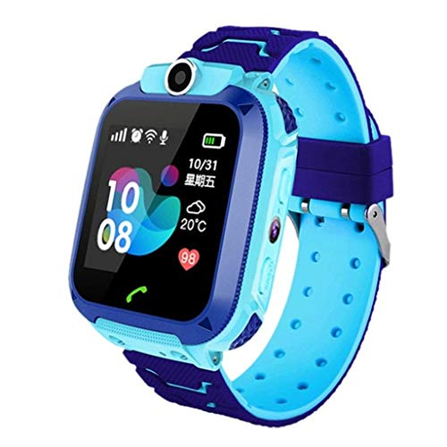 Kids Smartwatch, Children Camera Two-Way Call SOS Alarm Clock Music Player Record Calculator 1.44 inch Touch Screen,Silicone Strap,Waterproof, for Kid (Blue) (Best Camera For 13 Year Old)