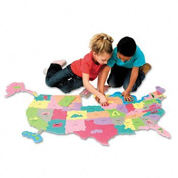 Chenille Kraft® WonderFoam® Giant U.S.A Puzzle Map MAT,FOAM USA PUZZLE,73PK (Pack of3)