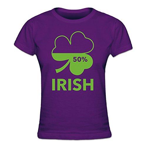 Shirtcity Irish 50 Percent Women's T-shirt XXL Purple - Xxl 50 Cent