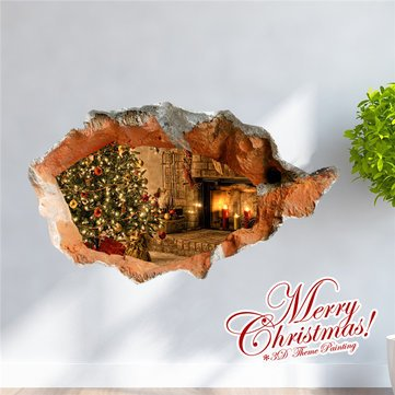 3d-christmas-tree-stove-pag-sticker-wall-decals-sticker-home-3d-wall-hole-decor-gift