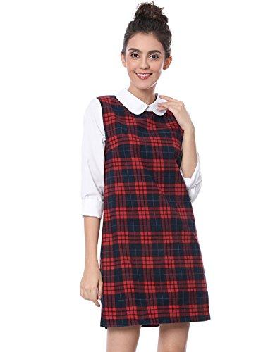 peter pan collar dress xs - 8